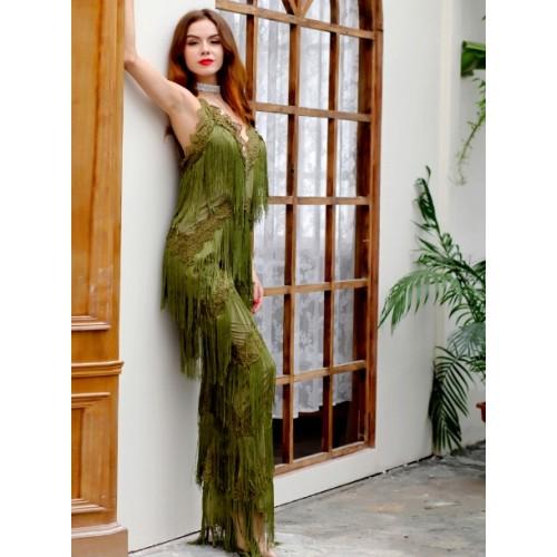 Combinaison vert chic combinaison femme soir e cocktail combinaison femme chic combinaison - Combinaison de soiree femme ...
